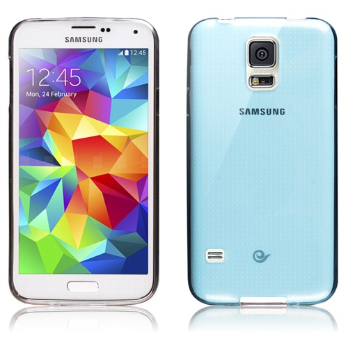 Microsonic Transparent Soft Samsung Galaxy S5 Kılıf Mavi