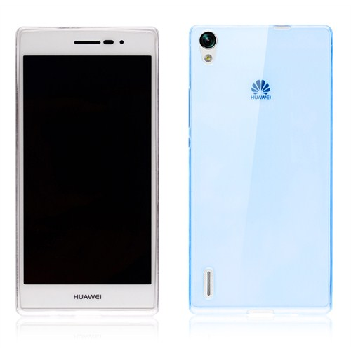 Microsonic Transparent Soft Huawei Ascend P7 Kılıf Mavi