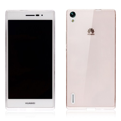 Microsonic Transparent Soft Huawei Ascend P7 Kılıf Siyah