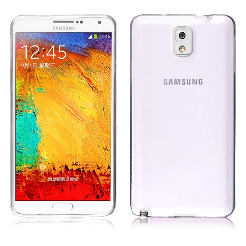 Microsonic Transparent Soft Samsung Galaxy Note 3 Kılıf Beyaz