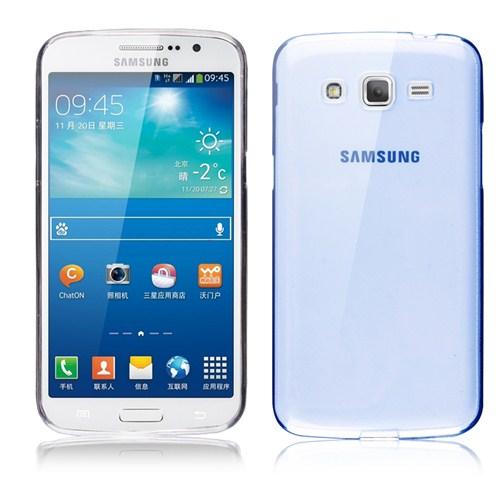 Microsonic Transparent Soft Samsung Galaxy Grand 2 Kılıf Mavi