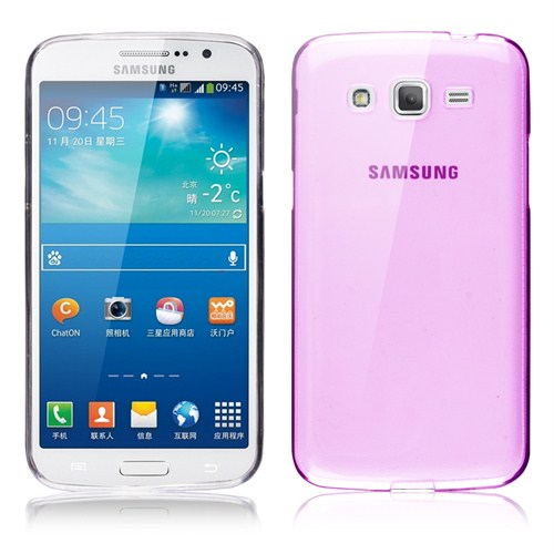 Microsonic Transparent Soft Samsung Galaxy Grand 2 Kılıf Pembe