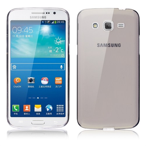 Microsonic Transparent Soft Samsung Galaxy Grand 2 Kılıf Siyah