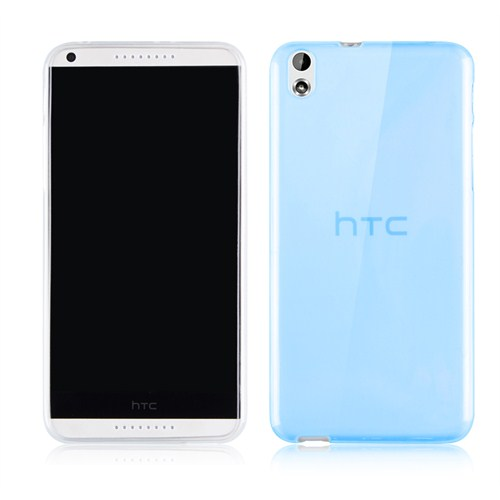 Microsonic Transparent Soft Htc Desire 816 Kılıf Mavi