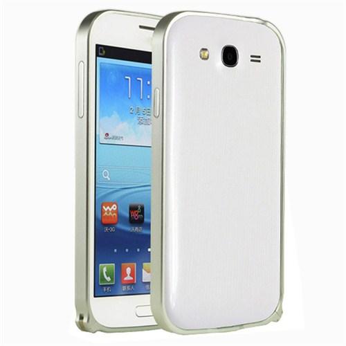 Microsonic Samsung Galaxy Grand Neo Thin Metal Bumper Çerçeve Kılıf Gümüş
