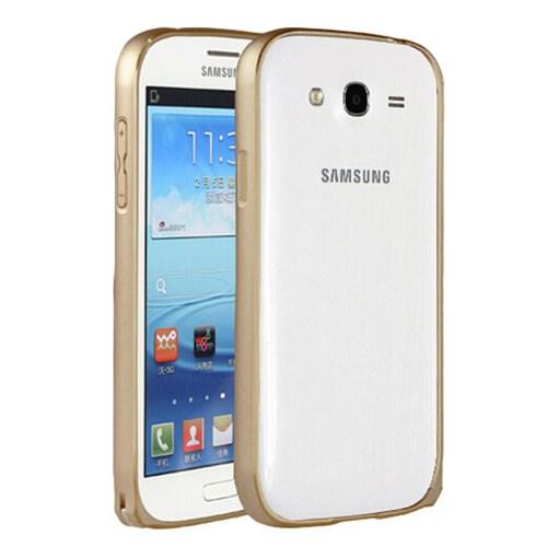 Microsonic Samsung Galaxy Grand İ9082 Thin Metal Bumper Çerçeve Kılıf Sarı