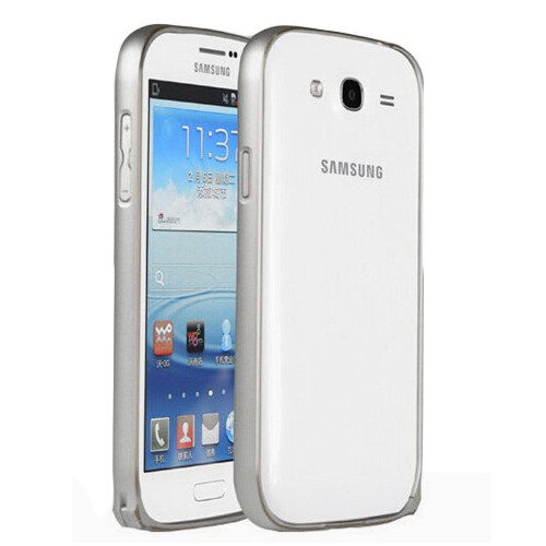 Microsonic Samsung Galaxy Grand İ9082 Thin Metal Bumper Çerçeve Kılıf Gümüş