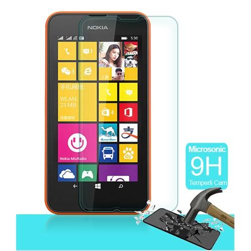 Microsonic Temperli Cam Ekran Koruyucu Nokia Lumia 530 Kırılmaz Film