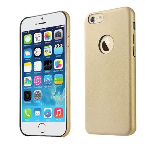 Microsonic Slim Leather İphone 6 Plus (5.5'') İnce Deri Kılıf Altın Sarısı