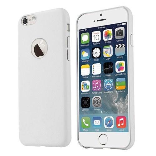 Microsonic Slim Leather İphone 6 Plus (5.5'') İnce Deri Kılıf Beyaz