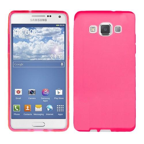 Microsonic Glossy Soft Samsung Galaxy A3 Kılıf Pembe