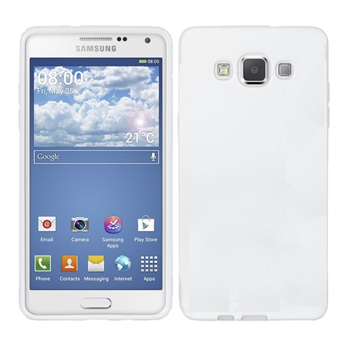 Microsonic Glossy Soft Samsung Galaxy A3 Kılıf Beyaz