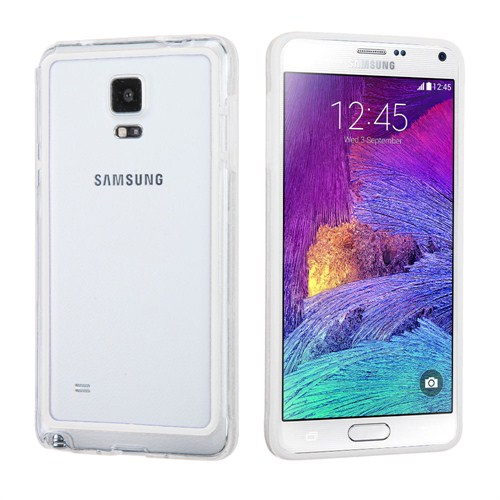 Microsonic Hybrid Transparant Samsung Galaxy Note 4 Kılıf Beyaz