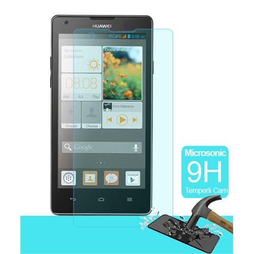Microsonic Temperli Cam Ekran Koruyucu Huawei Ascend G700 Kırılmaz Film