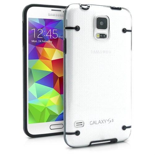 Microsonic Hybrid Transparant Samsung Galaxy S5 Kılıf Siyah