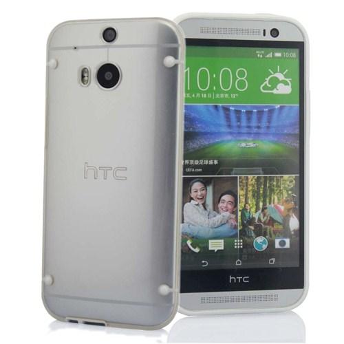 Microsonic Hybrid Transparant Htc One M8 Kılıf Beyaz