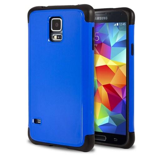 Microsonic Slim Fit Dual Layer Armor Samsung Galaxy S5 Kılıf Mavi