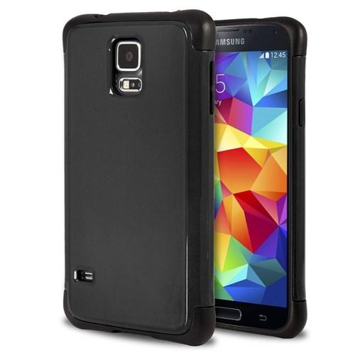 Microsonic Slim Fit Dual Layer Armor Samsung Galaxy S5 Kılıf Siyah