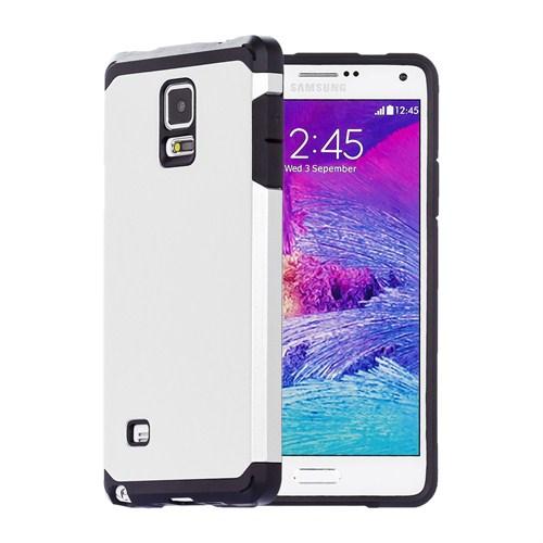 Microsonic Slim Fit Dual Layer Armor Samsung Galaxy Note 4 Kılıf Beyaz