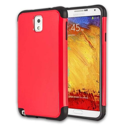 Microsonic Slim Fit Dual Layer Armor Samsung Galaxy Note 3 Kılıf Kırmızı