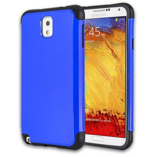 Microsonic Slim Fit Dual Layer Armor Samsung Galaxy Note 3 Kılıf Mavi