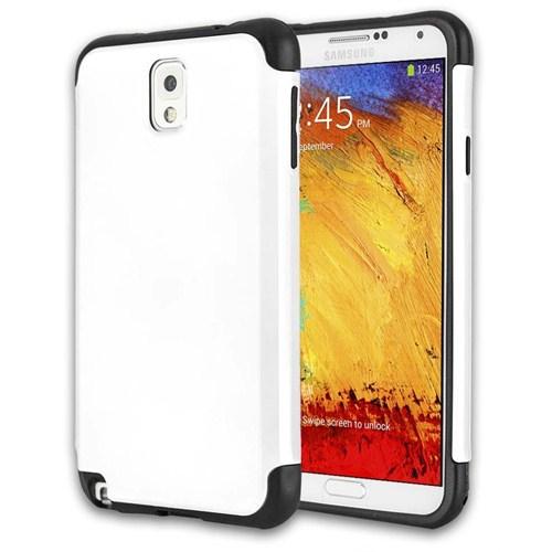 Microsonic Slim Fit Dual Layer Armor Samsung Galaxy Note 3 Kılıf Beyaz