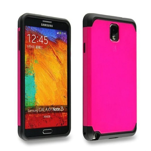 Microsonic Slim Fit Dual Layer Armor Samsung Galaxy Note 2 Kılıf Pembe