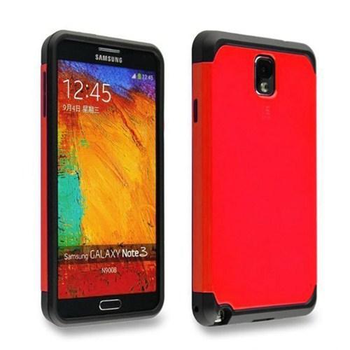 Microsonic Slim Fit Dual Layer Armor Samsung Galaxy Note 2 Kılıf Kırmızı