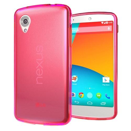 Microsonic Transparent Soft Lg Nexus 5 Kılıf Pembe