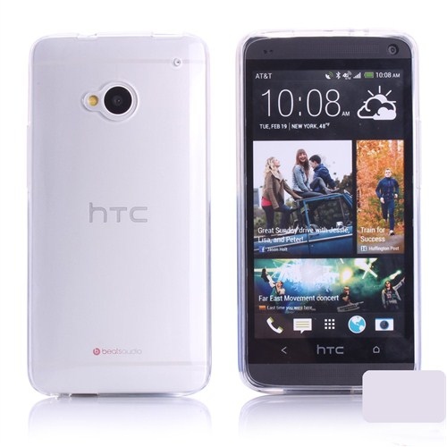 Microsonic Transparent Soft Htc One M7 Kılıf Beyaz