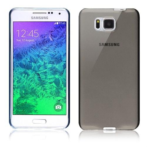 Microsonic Transparent Soft Samsung Galaxy Alpha Kılıf Siyah