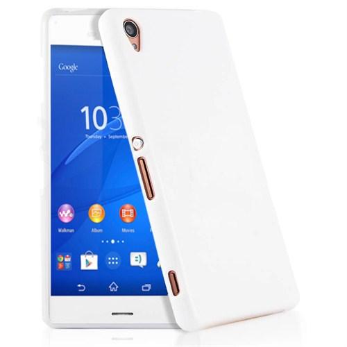 Microsonic Glossy Soft Sony Xperia Z3 Kılıf Beyaz