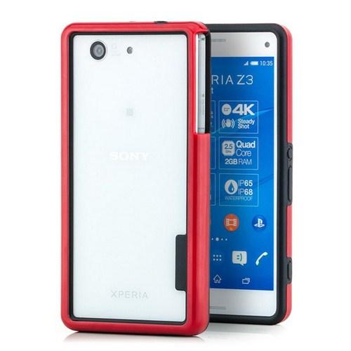 Microsonic Soft Bumper Sony Xperia Z3 Compact Kılıf Kırmızı