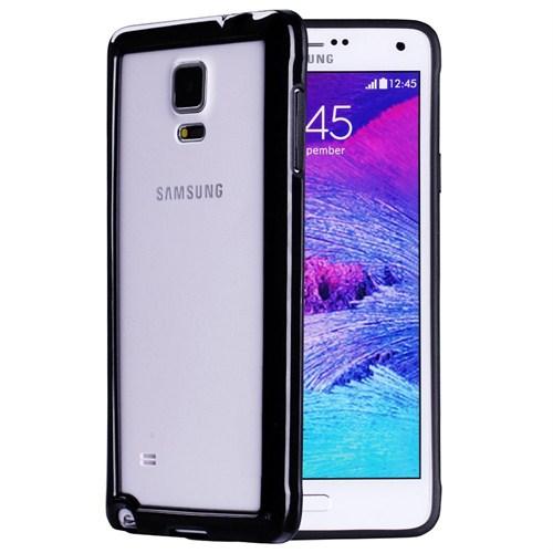 Microsonic Soft Bumper Samsung Galaxy Note 4 Kılıf Siyah
