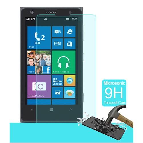 Microsonic Temperli Cam Ekran Koruyucu Nokia Lumia 1020 Kırılmaz Film