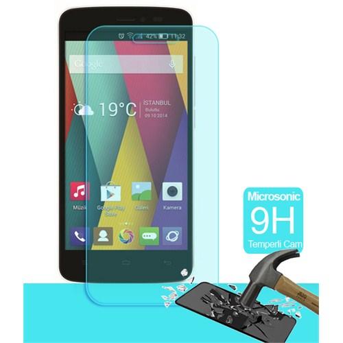 Microsonic Temperli Cam Ekran Koruyucu General Mobile Discovery 2 Mini Film