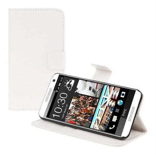 Microsonic Cüzdanlı Deri Htc Desire 610 Kılıf Beyaz
