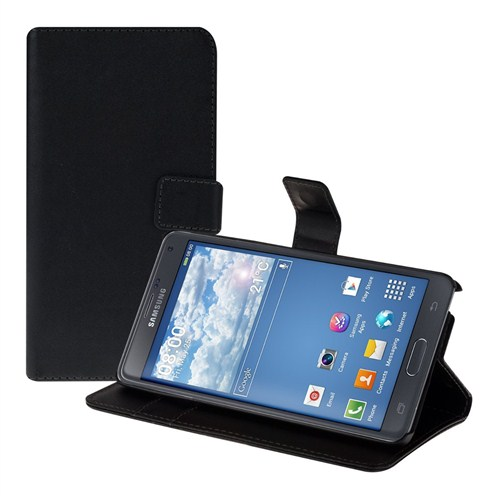 Microsonic Cüzdanlı Standlı Deri Samsung Galaxy Note 4 Kılıf Siyah