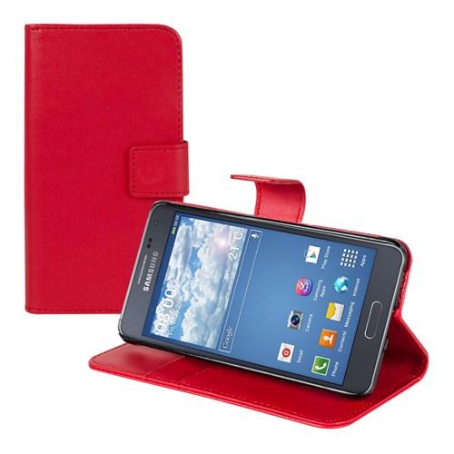 Microsonic Cüzdanlı Standlı Deri Samsung Galaxy Alpha Kılıf Kırmızı