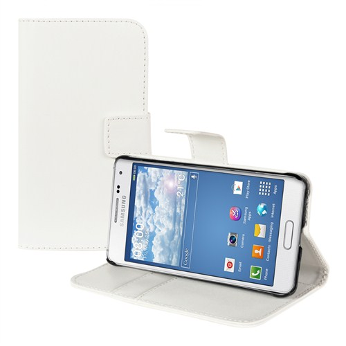 Microsonic Cüzdanlı Standlı Deri Samsung Galaxy Alpha Kılıf Beyaz