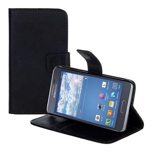 Microsonic Cüzdanlı Standlı Deri Samsung Galaxy Alpha Kılıf Siyah