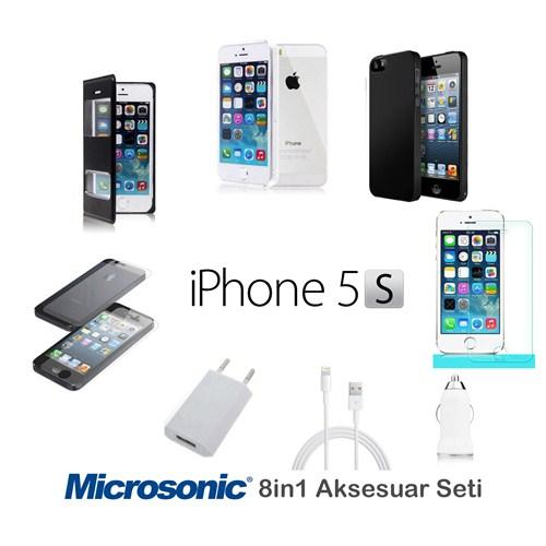 Microsonic İphone 5 & 5S Kılıf & Aksesuar Seti 8İn1
