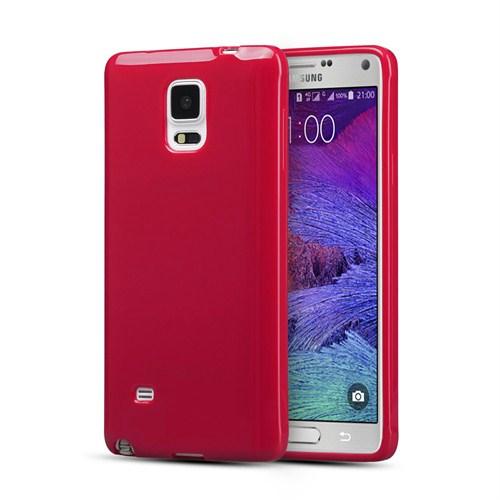 Microsonic Glossy Soft Samsung Galaxy Note 4 Kılıf Kırmızı