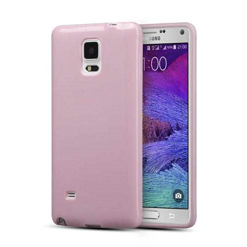 Microsonic Glossy Soft Samsung Galaxy Note 4 Kılıf Pembe