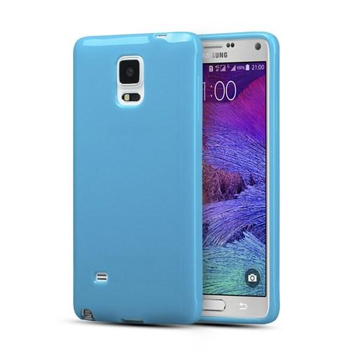 Microsonic Glossy Soft Samsung Galaxy Note 4 Kılıf Mavi