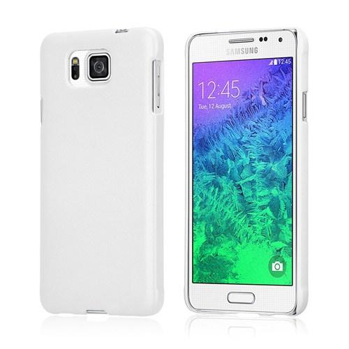 Microsonic Premium Slim Samsung Galaxy Alpha Kılıf Beyaz