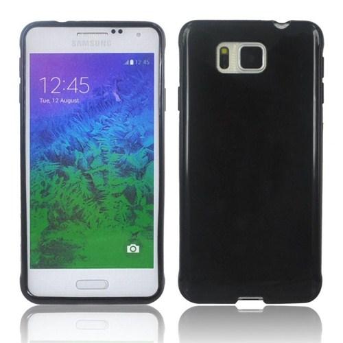 Microsonic Glossy Soft Samsung Galaxy Alpha Kılıf Siyah