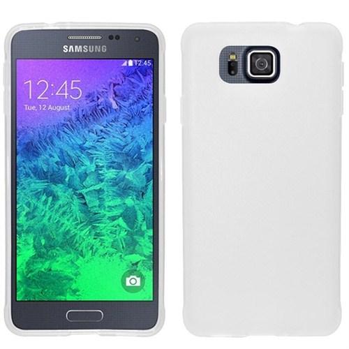 Microsonic Glossy Soft Samsung Galaxy Alpha Kılıf Beyaz