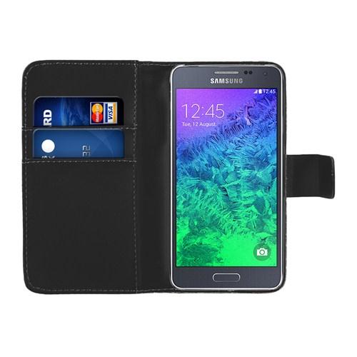 Microsonic Cüzdanlı Deri Samsung Galaxy Alpha Kılıf Siyah