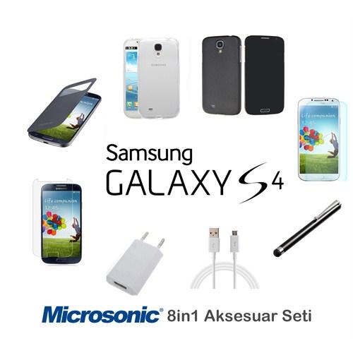 Microsonic Samsung Galaxy S4 Kılıf & Aksesuar Seti 8İn1